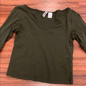 Long sleeve h&m crop top